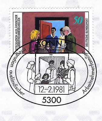 Brd 1981: Integration Nr 1086 Mit Sauberem Bonner Ersttagssonderstempel! 1a! 154 Dauerhaft Im Einsatz