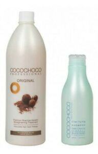 Cocochoco Brazilian Keratin Treatment Blow Dry Hair Straightening 1 Litre Kit Ebay