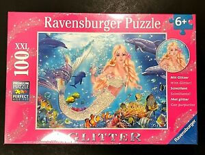 Ravensburger-Glitter-Mermaid-100-XXL-Piece-Puzzle-Under-Sea-NEW-SEALED