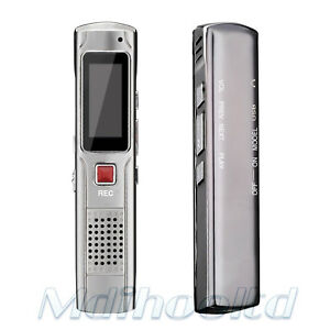 8GB Metal Steel Stereo LCD Digital Voice Recorder Dictaphone USB Disk MP3 Player 602168384413