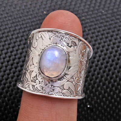 Wide band spinner fidget two tone solid 925 silver ring Jewelry all sizes av0040