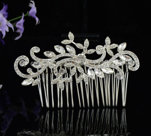 Joyas de pelo peinetas boda diademas jewerly Blume perla novia