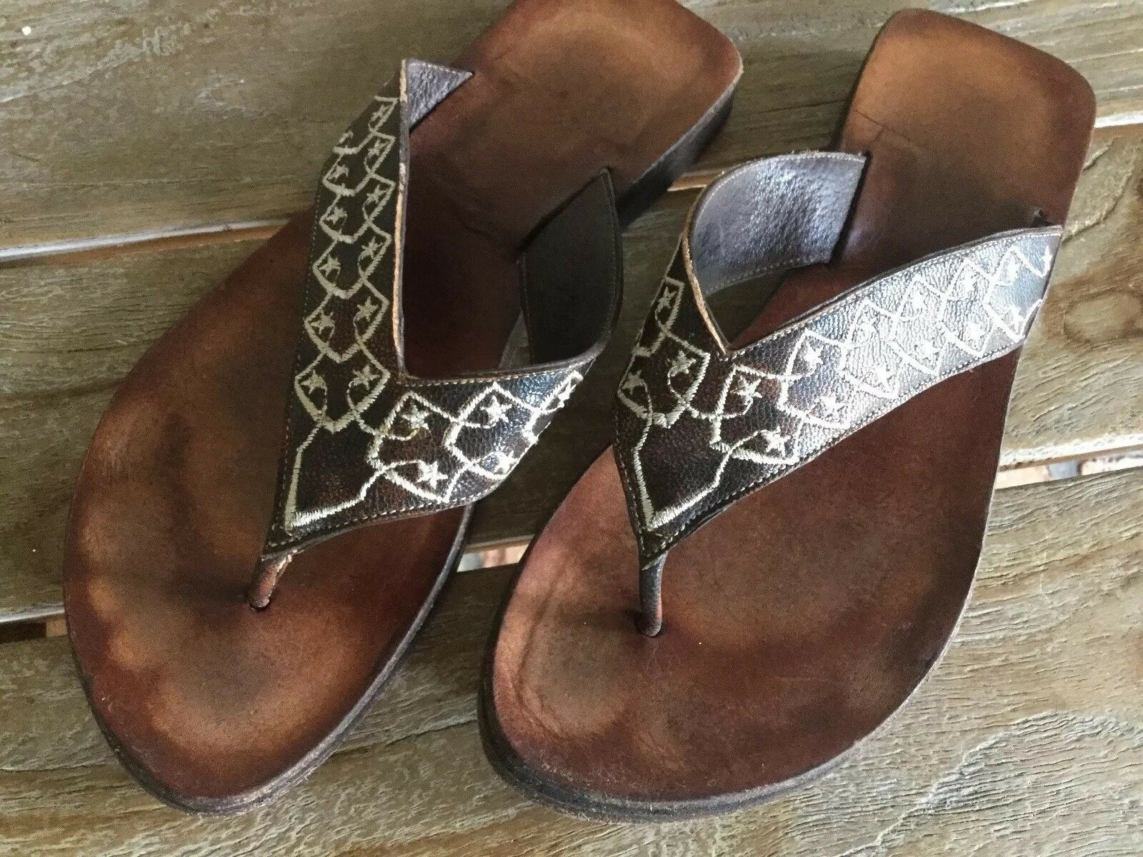 Old Gringo Brown Leather Sandals 7 B