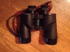 WWII BAUSCH & LOMB M7 (1942) F.J.A. 7x50 ARMY BINOCULARS WITH LEATHER CASE