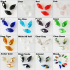 15Pcs Faceted Teardrop Glass Crystal Rondelle Beads Charms Pendants 6x12mm