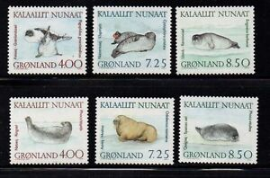 Greenland-Sc-233-8-1991-Walrus-amp-Seals-stamp-set-mint-NH