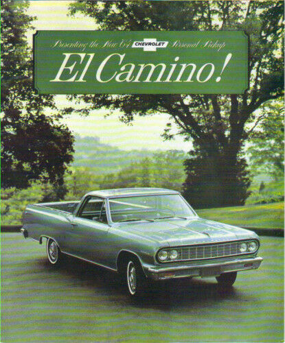 1964  EL CAMINO STANDARD /& CUSTOM  SALES BROCHURE
