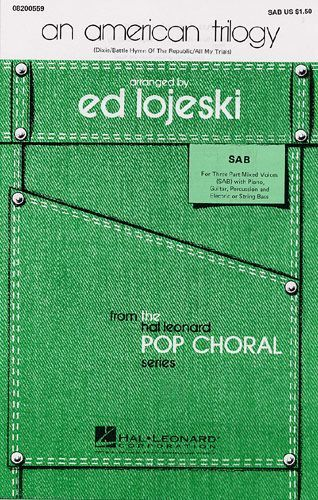 An American Trilogy SAB Vocal Choral Learn to Sing Play Piano Music Book