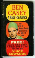 A RAGE FOR JUSTICE by Daniels rare US Lancer Ben Casey TV doctor pulp vintage pb