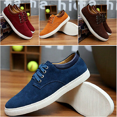 NEW 2017 Suede European style leather Shoes Men's oxfords Casual large size shoe