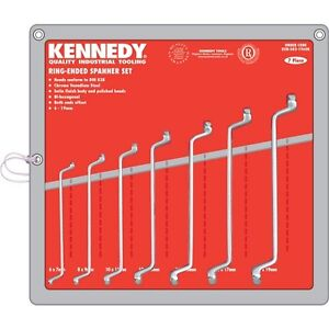 Kennedy-Quality-Industrial-Tooling-Ring-Spanner-Set-7-Piece