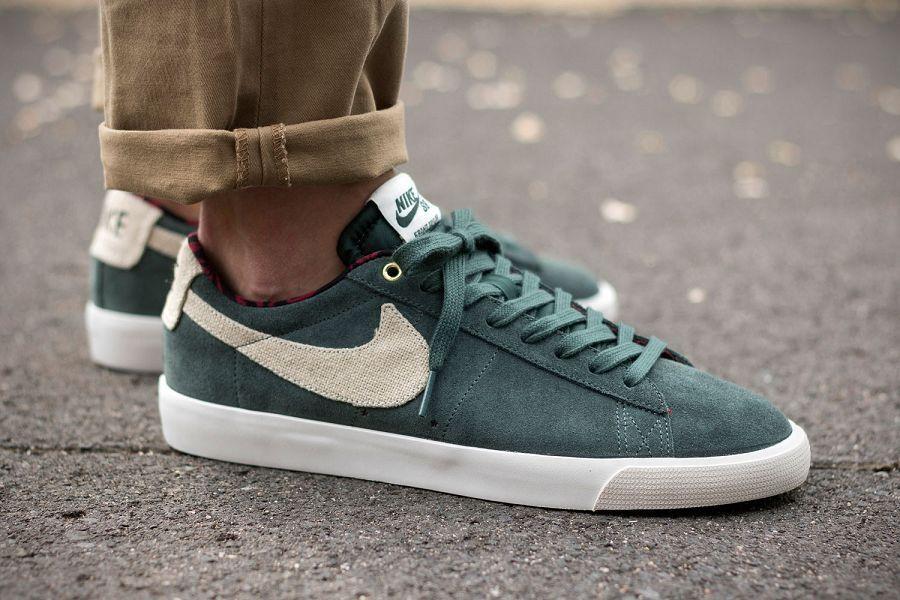 check out 59e84 51537 Para mujer Nike Blazer Baja GT Verde Zapatillas Zapatos Size 5 US 5.5