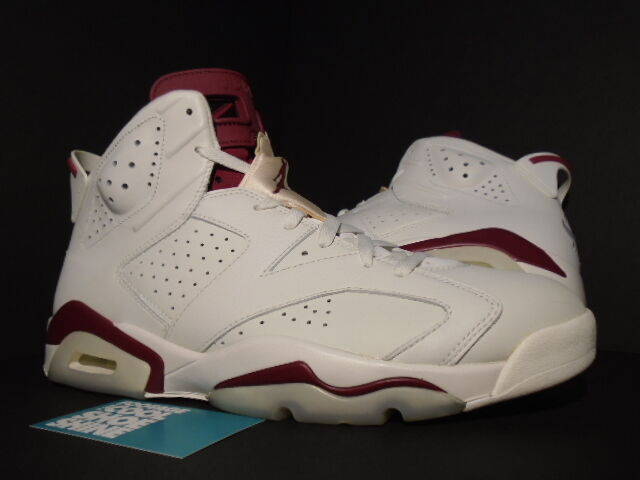 2015 Nike Air Jordan VI 6 Retro OFF WHITE NEW MAROON INFRARED 384664-116 12