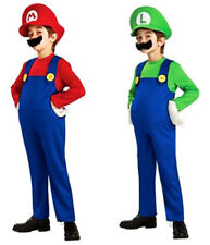 2 Pack Kids Super Mario Brothers Fancy Dress Costume