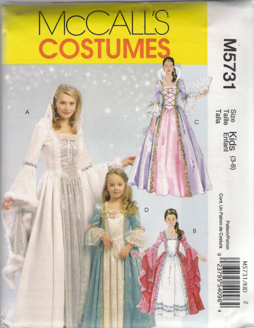 Mccall\'s Sewing Pattern M5731 / Mp434 Medieval Princess Costume ...