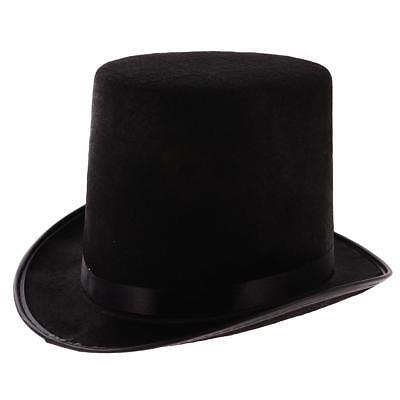 Cappello Cappellini Tuba Cilindro Feltro Bombetta Per Mago Sposo Nero