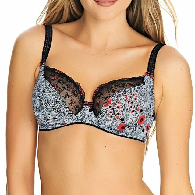 Freya Etched Escape Underwired Plunge Balcony Bra in Mono Aa2641 36 ... 67ba7bf67