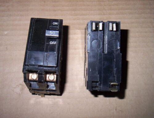 SQUARE D QO QO250 2 POLE 120//240V 50 AMP CIRCUIT BREAKER BLACK SNAP IN