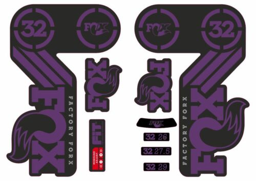 FOX 32 Heritage 2015 Fork Suspension Factory Decal Sticker Adhesive Purple