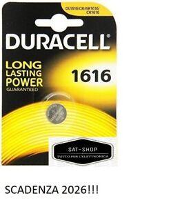 PILA BOTTONE DURACELL 1616 ELETTRONICS 3V LITIO DL1616 CR1616 ECR1616 Batteria