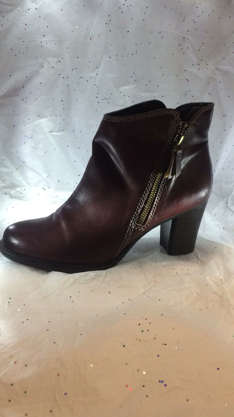 Natural Soul Brown Man Made Leather Booties Size 8M