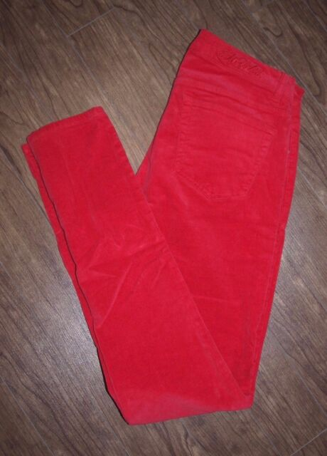 Ecko Red Ecko Unlimited Size 28 Womens Soft Red Skinny Corduroy Jeans