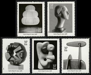 #3857-3861 37c Isamu Noguchi, Individuales, Nuevo Cualquier 5=