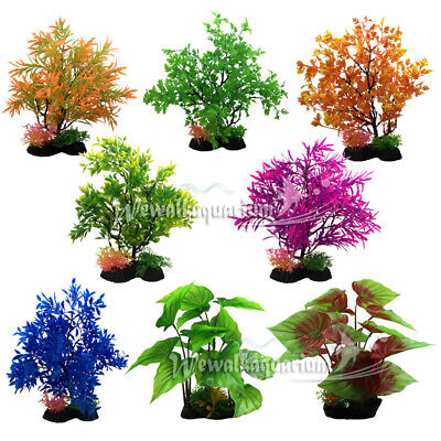 Adaptable Fish Tank Easy Pastic Artificial Plant Decoration Aquarium Ornament 11.8''×4.7'' For Fast Shipping Pet Supplies