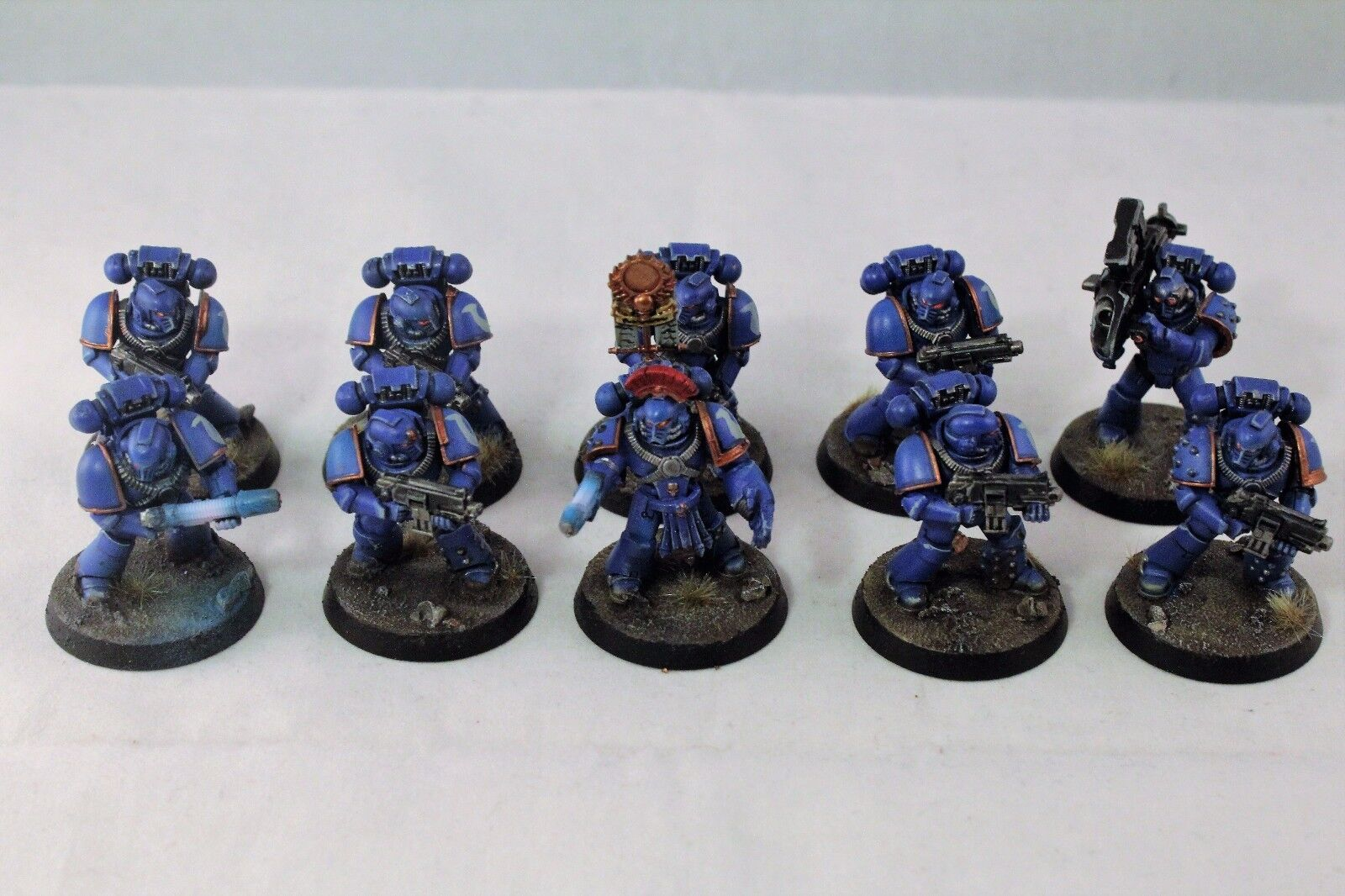 Warhammer Space Marines Ultramarine 30k Tactical Squad Well Painted