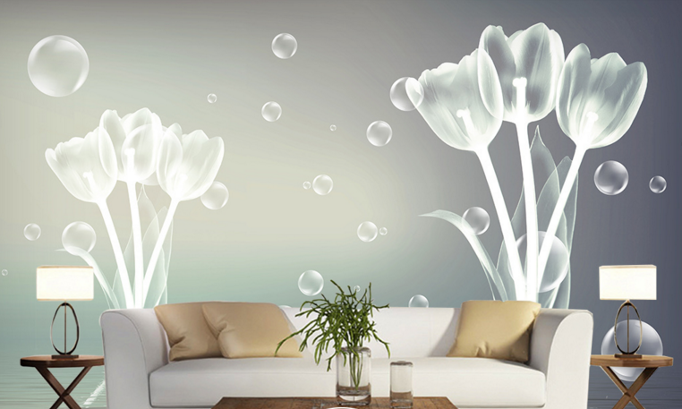 3D Foams Tulips 88 Wall Paper Murals Wall Print Wall Wallpaper Mural AU Kyra