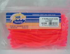 """Haw River 6202B 6/"""" Bubble Gum Worm 20CT Black 24125"""