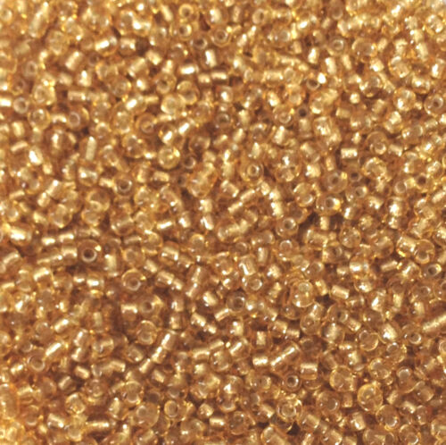 Silver-Lined approx 4mm - choice of colours 50g glass seed beads size 6//0