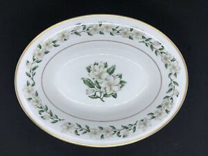 Princess-China-Tru-Tone-Bridal-Wreath-Serving-Bowl-Oval-10-Vegetable-EUC