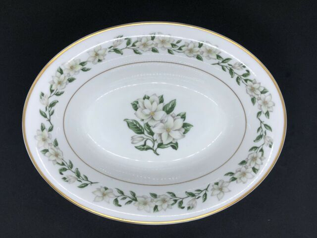 "Princess China Tru-Tone Bridal Wreath Serving Bowl Oval 10"" Vegetable EUC"
