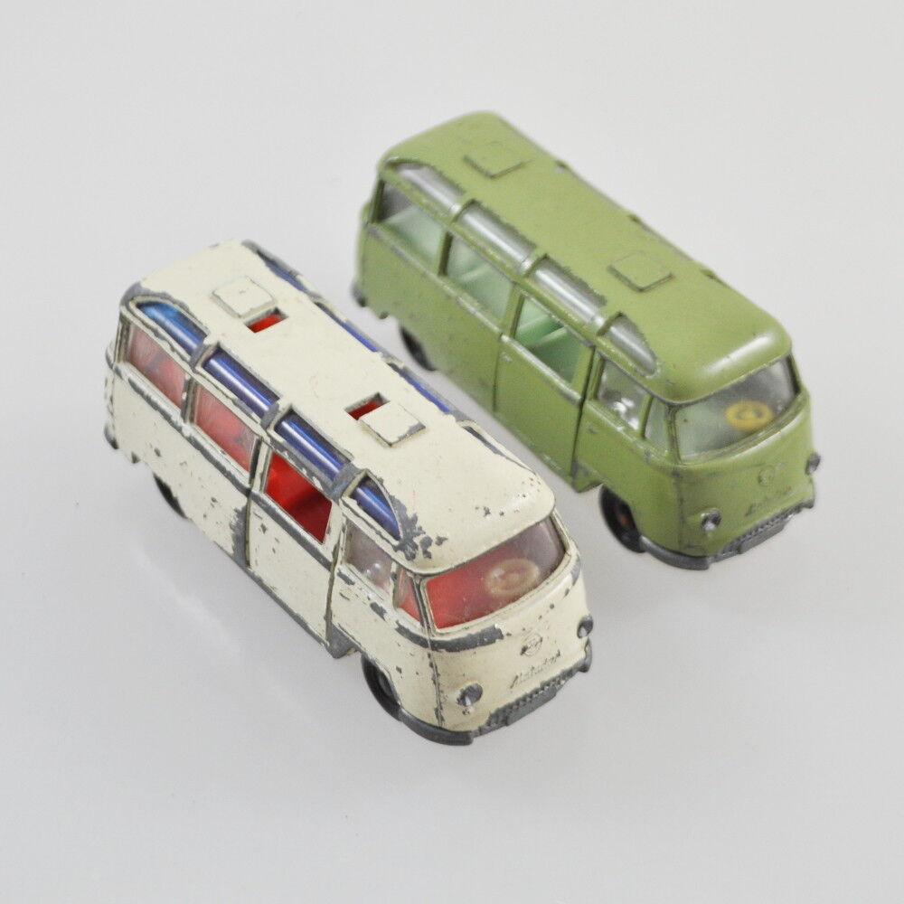 2 x SIKU v220-Tempo Matador Bus-Vert & Blanc-vert & blanc