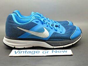 ddfce3db744 Nike Air Pegasus+ 30 Hero Blue Metallic Silver Black Running 599699 ...