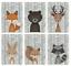 Nursery-Animal-Prints-Lot-de-6-Peekaboo-Woodland-Animaux-Photos-pour-nursery miniature 2