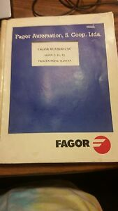 Details about Fagor 8025/8030 CNC Programming Manual