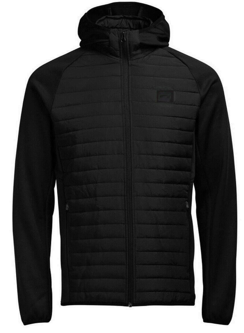 Mens Big Größe Jack & Jones Quilted Puffer Jacket Warm Hooded Lightly Padded