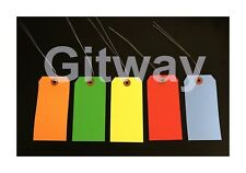 1000 Of 4 34 X 2 38 Size 5 Colored Inventory Shipping Hang Tags With Wire