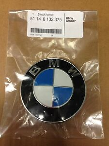 GENUINE-BMW-Hood-Emblem-Roundel-OEM-51148132375-with-FREE-grommets