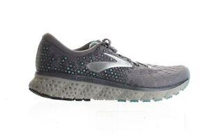 Brooks Womens Glycerin 17 Grey/Aqua/Ebony Running Shoes Size 8 (Wide) (733197)