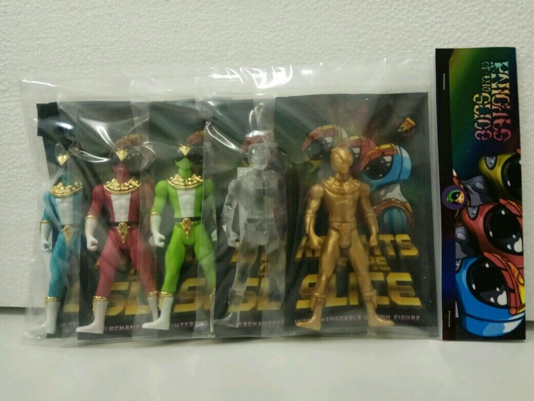 Knights of the Slice Toy Pizza Glyos Compatible Action Figures Lot Of 5