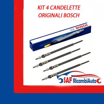 KIT 4 CANDELETTE ORIGINALI FIAT 46754154 ALFA 147 1.9 JTDM 115 CV