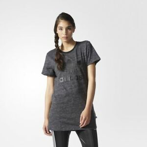0158cb0b122 adidas Originals Women's Long T Shirt Maxi Dress Print Trefoil Logo ...