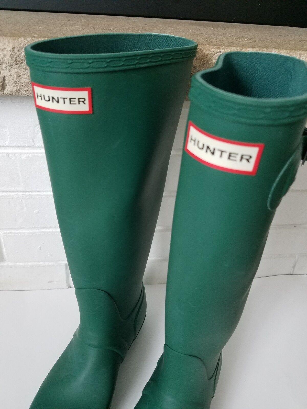 Womens Womens Womens Hunter 6 Original Stripe Winter Snow Wellington Wellies Rainboots Green ace356