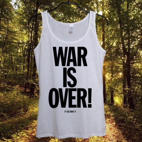 War Is Over Top Tank Womens Sleeveless Summer 2015 T Shirt Obama Putin Merkel UK