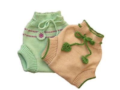 Striped Diaper Cover 100/% MERINO WOOL baby cloth nappy soaker longies leggings