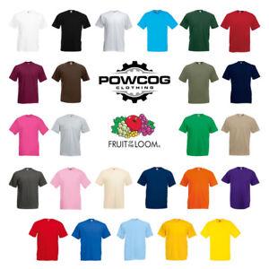FRUIT-OF-THE-LOOM-Mens-Womens-Plain-100-Cotton-T-Shirt-25-COLOURS-S-5XL