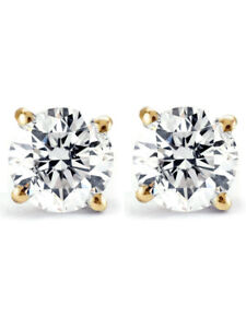 3-4ct-Diamond-Studs-14K-Yellow-Gold